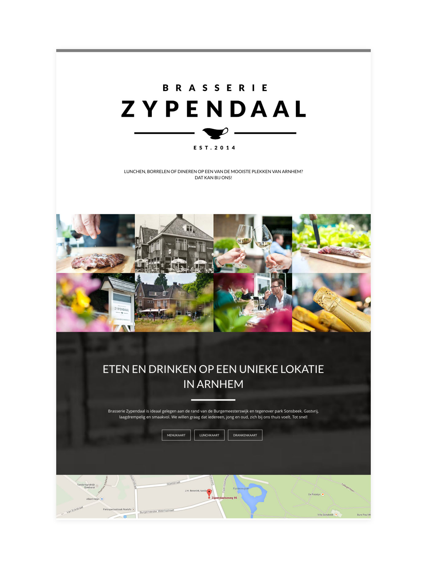 Website Brasserie Zypendaal
